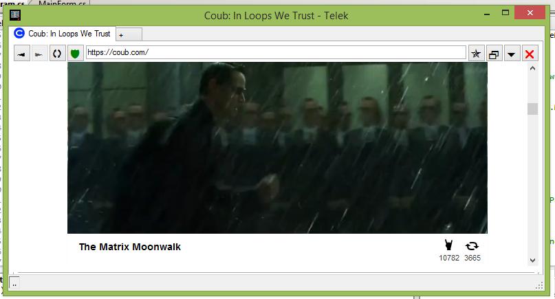 Основное окно браузера Astrolabium Telek Browser